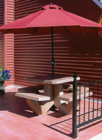 Wieser Doric   Patio Products: Beautiful Stained Concrete Tables, Picnic  Tables, Planters